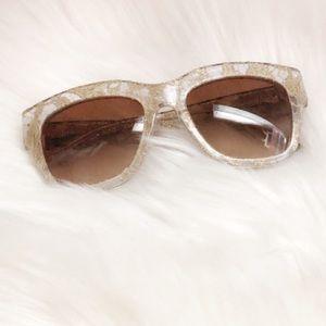 Dolce & Gabbana Lace Frame Ombré Sunglasses